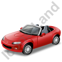 Cabriolet Red Icon, PNG/ICO, 128x128
