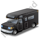 Camper Van Black Icon