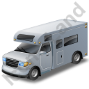 Camper Van Grey Icon