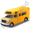 Camper Van Yellow Icon
