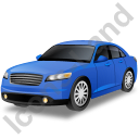 Executive Car Blue Icon, PNG/ICO, 128x128