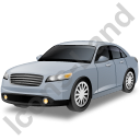 Executive Car Grey Icon, PNG/ICO, 128x128
