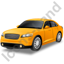 Executive Car Yellow Icon, PNG/ICO, 128x128