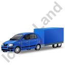 Minicar Trailer Blue Icon