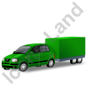 Minicar Trailer Green Icon