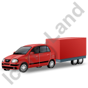 Minicar Trailer Red Icon