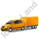 Minicar Trailer Yellow Icon