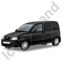 Panel Van Black Icon