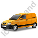 Panel Van Yellow Icon, PNG/ICO, 128x128