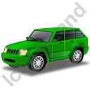 SUV Green Icon