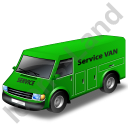 Service Van Green Icon