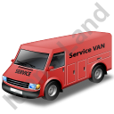 Service Van Red Icon, PNG/ICO, 128x128