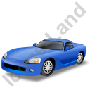 Sports Car Blue Icon