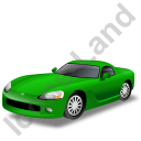 Sports Car Green Icon