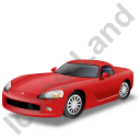 Sports Car Red Icon