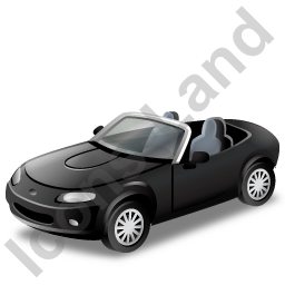 Cabriolet Black Icon