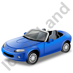 Cabriolet Blue Icon