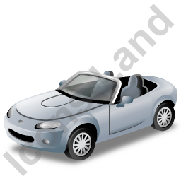 Cabriolet Grey Icon