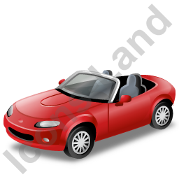 Cabriolet Red Icon, PNG/ICO, 256x256