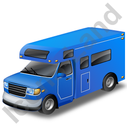 Camper Van Blue Icon