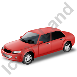 Car Red Icon, PNG/ICO, 256x256