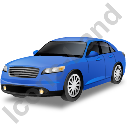 Executive Car Blue Icon, PNG/ICO, 256x256