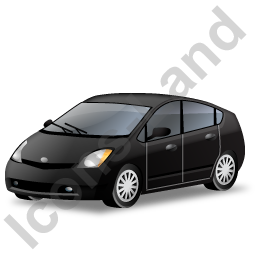 Hybrid Car Black Icon, PNG/ICO, 256x256