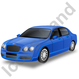 Luxury Car Blue Icon