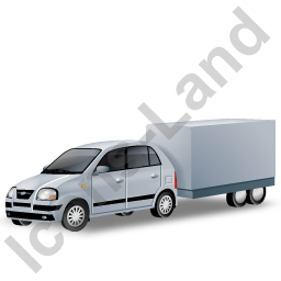 Minicar Trailer Grey Icon