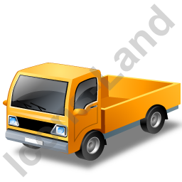 Minitruck Yellow Icon, PNG/ICO, 256x256