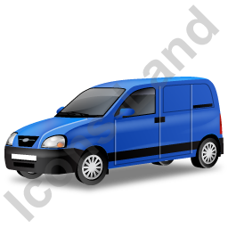Panel Van Blue Icon
