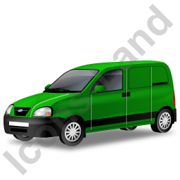 Panel Van Green Icon