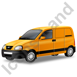 Panel Van Yellow Icon, PNG/ICO, 256x256