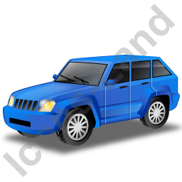 SUV Blue Icon