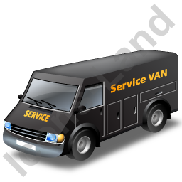 Service Van Black Icon