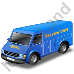 Service Van Blue Icon