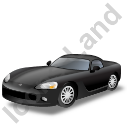 Sports Car Black Icon