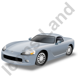 Sports Car Grey Icon