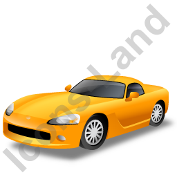 Sports Car Yellow Icon