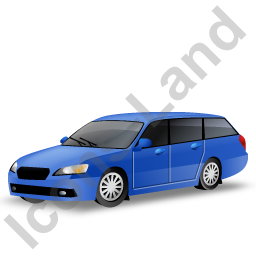 Station Wagon Blue Icon
