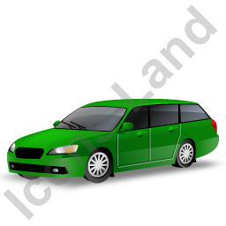 Station Wagon Green Icon