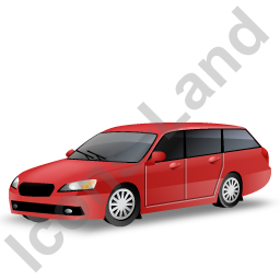 Station Wagon Red Icon