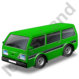 Van Green Icon, PNG/ICO, 256x256