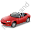 Cabriolet Red Icon, PNG/ICO, 64x64