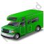 Camper Van Green Icon