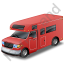 Camper Van Red Icon