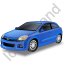 Hatchback Blue Icon
