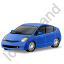Hybrid Car Blue Icon
