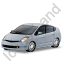 Hybrid Car Grey Icon