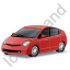 Hybrid Car Red Icon